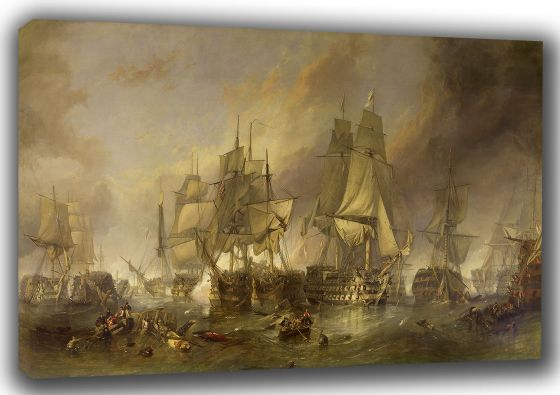 Stanfield, (William) Clarkson Frederick: The Battle of Trafalgar. Historical/War Fine Art Canvas. Sizes: A3/A2/A1 (00387)